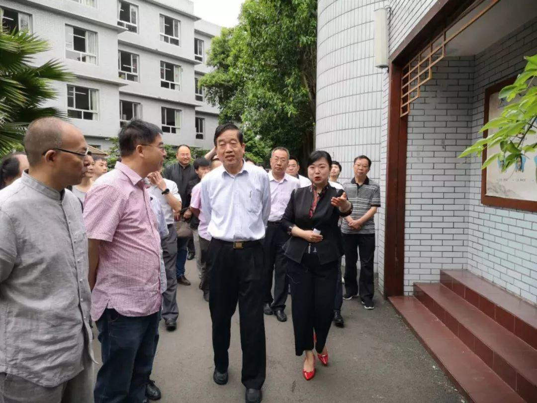 全国政协常委、中国书法家协会主席苏士澍一行莅蓉调研指导