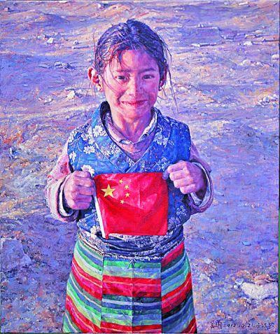 五星红旗 我为你自豪 飘扬在美术作品中的国旗 –