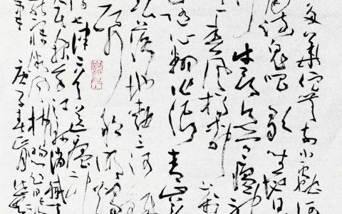 """""""同心大爱战疫情""""邓代昆草书三品欣赏"""