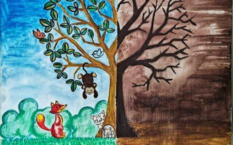 众志成城、抗击疫情——美术家在行动之儿童画篇(九十九)
