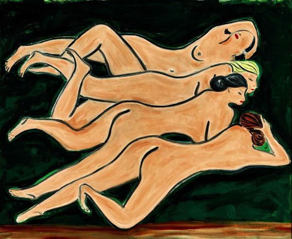 常玉《绿色背景四裸女》2.58亿成交,朱德群画作首次过亿