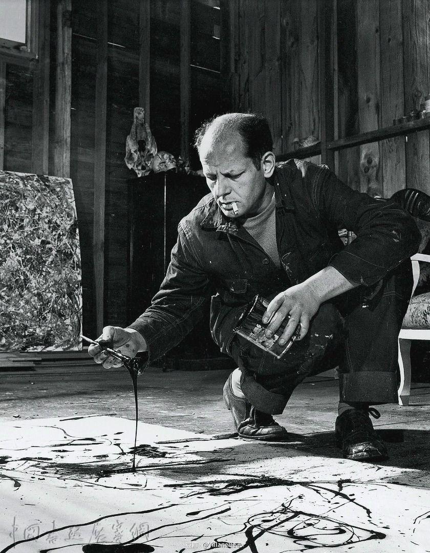 """波洛克""""滴画法""""之前的《壁画》,是有意为之的绘画过程"""