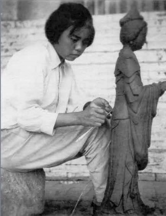 时代里的印痕,他曾为黄兴、刘海粟、巴金名人等塑像