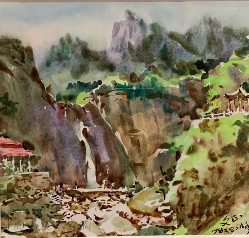 """水彩画里浓烈的""""海腥气"""",中国美术馆展""""青岛水彩"""""""